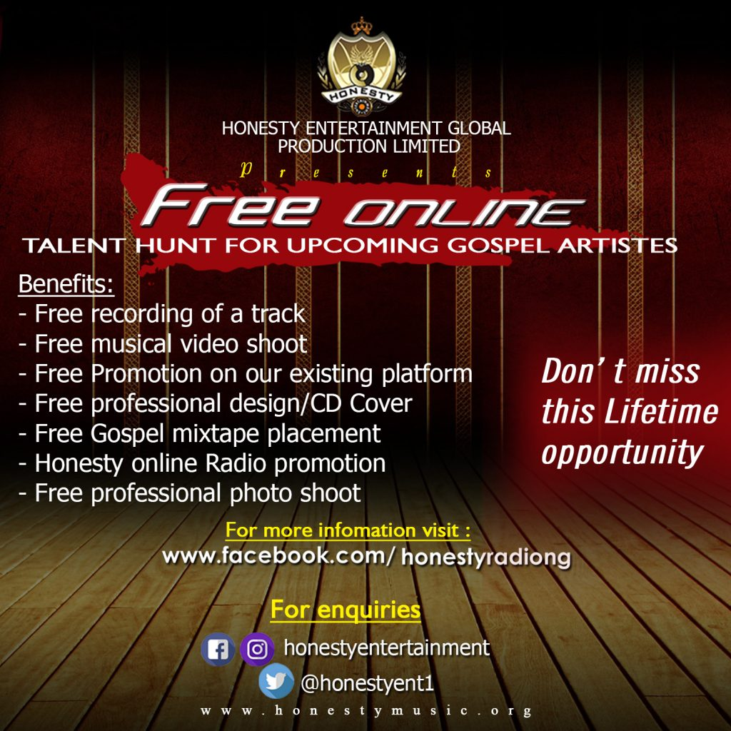 Online Talent Hunt Hidden Vocals Honesty Music