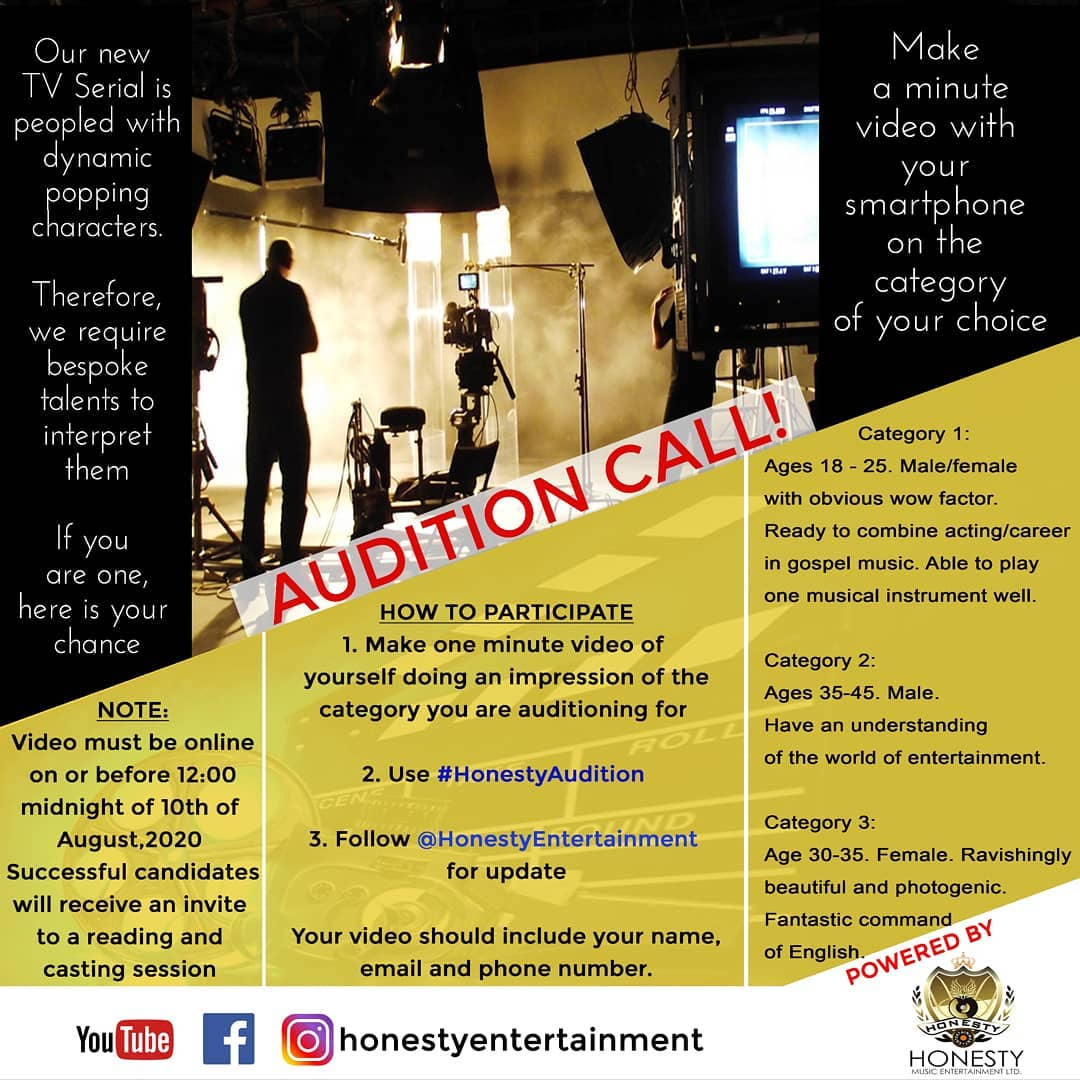 AUDITION CALL!!!
